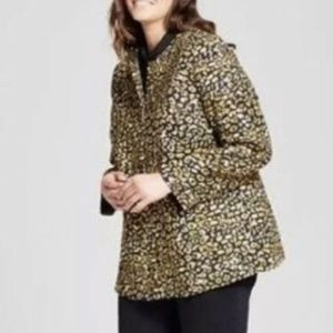 Who What Wear Blazer Jacket Women 2X cheetah new